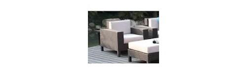 Salons de jardin en pierre reconstitu e table en bois - Salon de jardin en pierre reconstituee ...